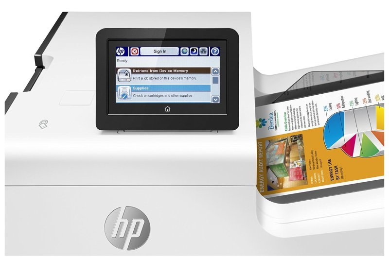 HP PageWide 556xh Enterprise Colour Inkjet Printer with Additional Paper Tray