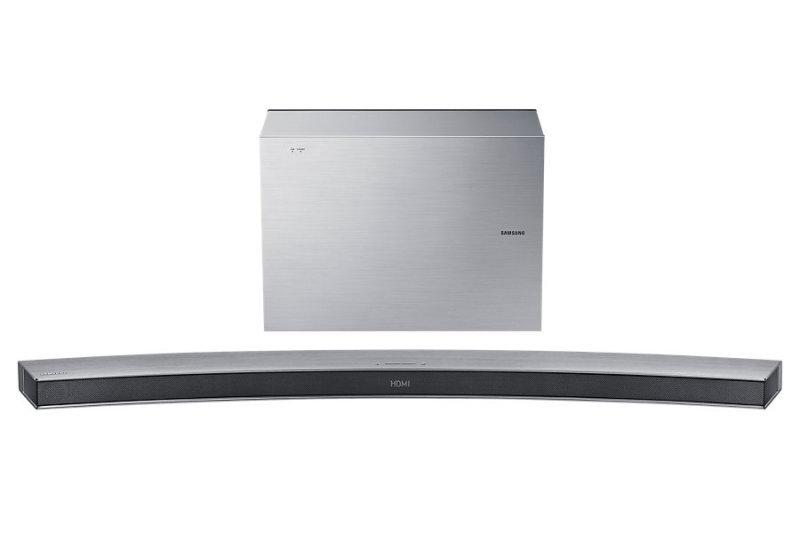 Samsung Sound Bar Curved 300w  6.1ch  7 Inch Wireless Active Subwoofer  Bluetooth - Silver