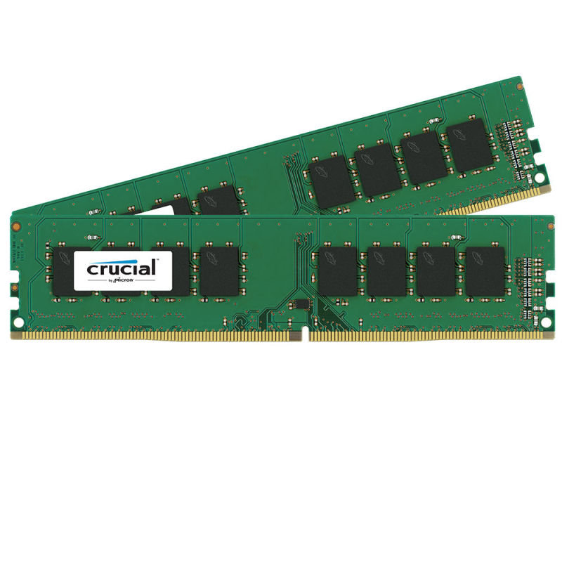 Crucial 16GB Kit (2x8GB) DDR4-2133 UDIMM Desktop Memory