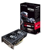 EXDISPLAY Sapphire Radeon RX 460 Nitro 4GB GDDR5 DVI-D HDMI DisplayPort PCI-E Graphics Card
