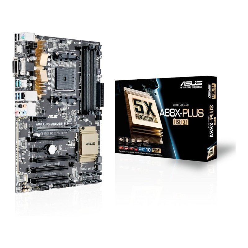 Asus A88XPLUSUSB 3.1 Socket FM2 VGA DVI HDMI 8Channel HD Audio ATX Motherboard