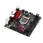 Asus B150I PRO GAMING/AURA Intel Socket 1151 DVI HDMI 8-Channel HD Audio Mini ITX Motherboard
