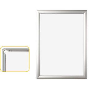 Bi-Office Snap Frame A4 Aluminium Frame