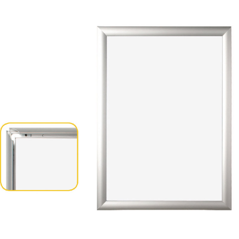 BiOffice Snap Frame A4 Aluminium Frame