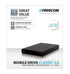 Freecom Mobile Drive Classic 2TB USB 3.0 External Hard Drive