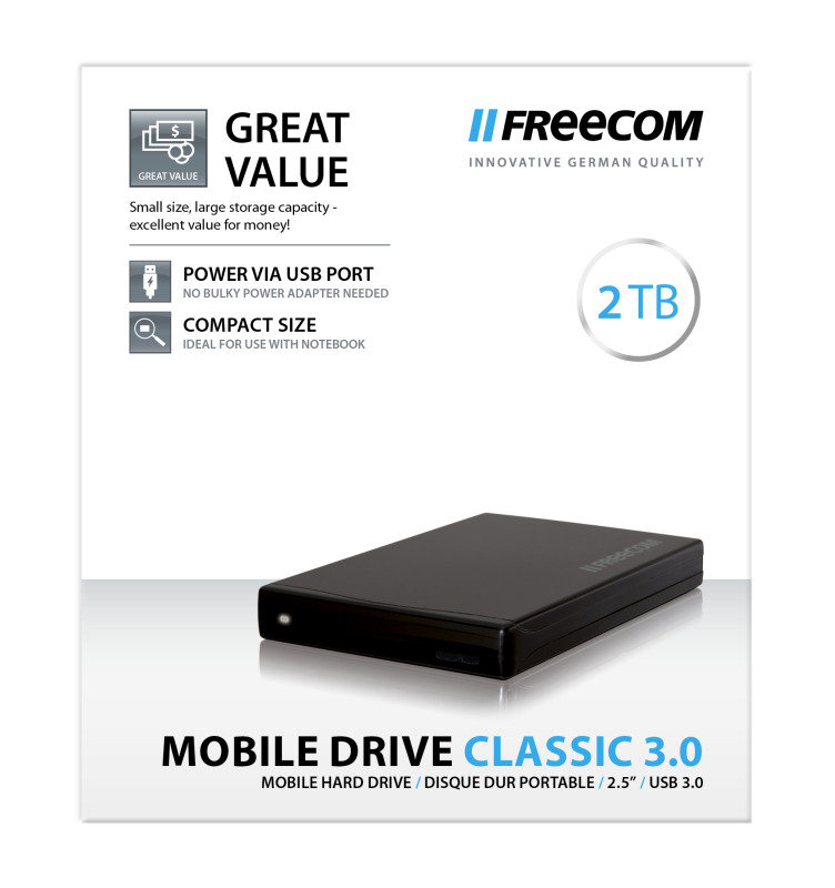 Freecom Mobile Drive Classic 2TB USB 3.0 External Hard Drive