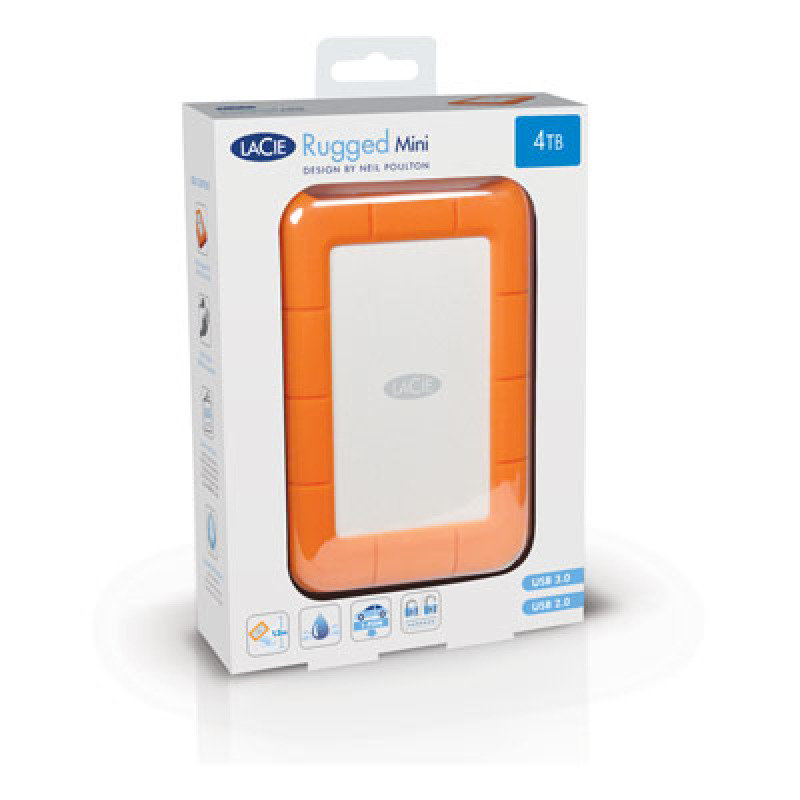 Lacie Rugged Mini 4tb Usb 3 0 Portable Hard Drive