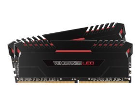 Corsair Vengeance LED 32GB (2 x 16GB) DDR4 DRAM 2666MHz C16 Memory Kit - Red LED
