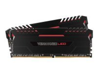 Corsair VENGEANCE LED 32GB (2 x 16GB) DDR4 DRAM 3200MHz C16 Memory Kit - Red LED