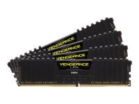 Corsair Vengeance LPX 64GB (4x16GB) DDR4 DRAM 2400MHz C14 Memory Kit - Black