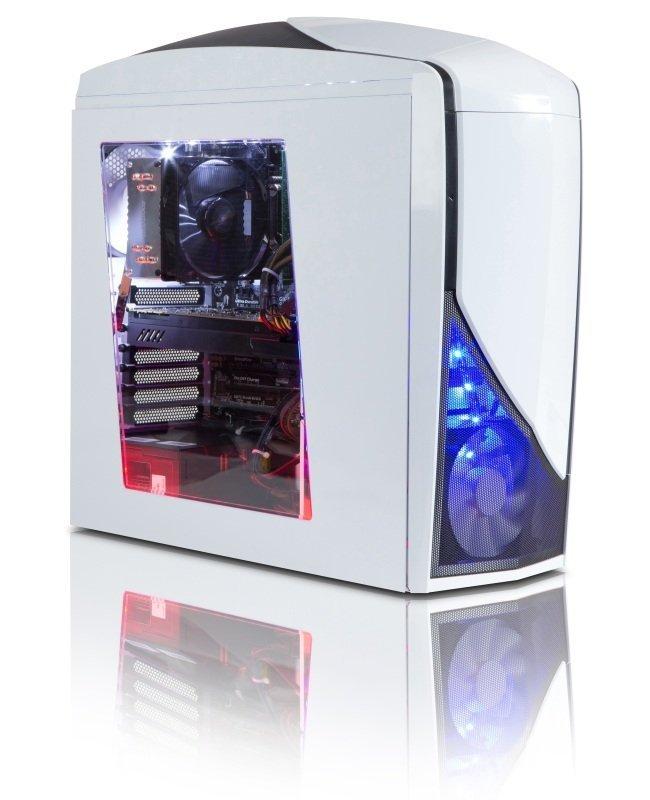 StormForce Glacier VR Gaming PC Intel Core i76700 3.4GHz 16GB RAM 2TB HDD 120GB SSD DVDRW NVIDIA GTX 1070 8GB Windows 10 Home 64bit