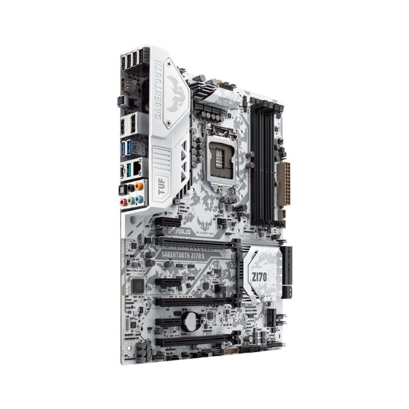 Asus SABERTOOTH Z170 S Socket 1151 HDMI DisplayPort 8-Channel HD Audio ATX Motherboard