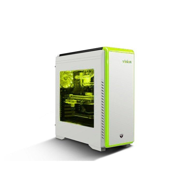 AvP Vision Mid Tower Case White with Seven coloured Lighting