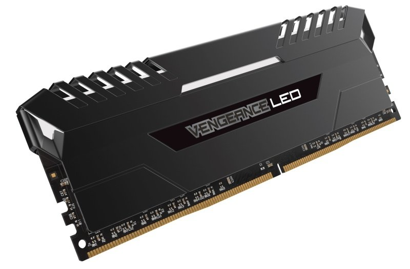 Corsair Vengeance LED 32GB (4x8GB) DDR4 DRAM 3000MHz C15 Memory Kit - White LED