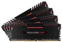 Corsair Vengeance LED 32GB (4 x 8GB) DDR4 DRAM 2666MHz C16 Memory Kit - Red LED
