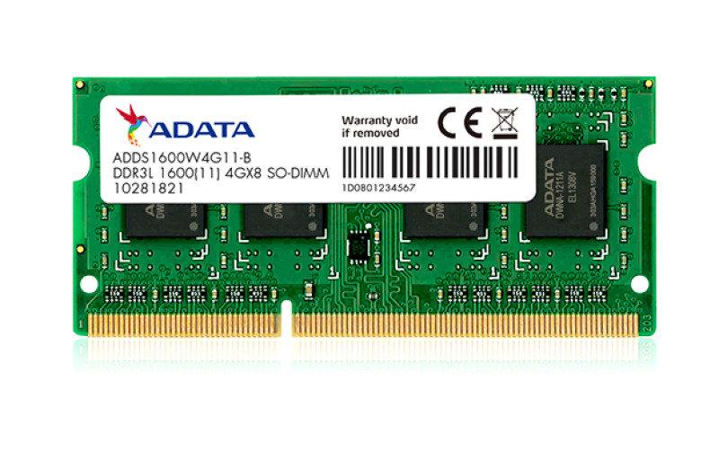 ADATA Premier (4GB) DDR3L 1600MHz 204 Pin SO-DIMM Memory