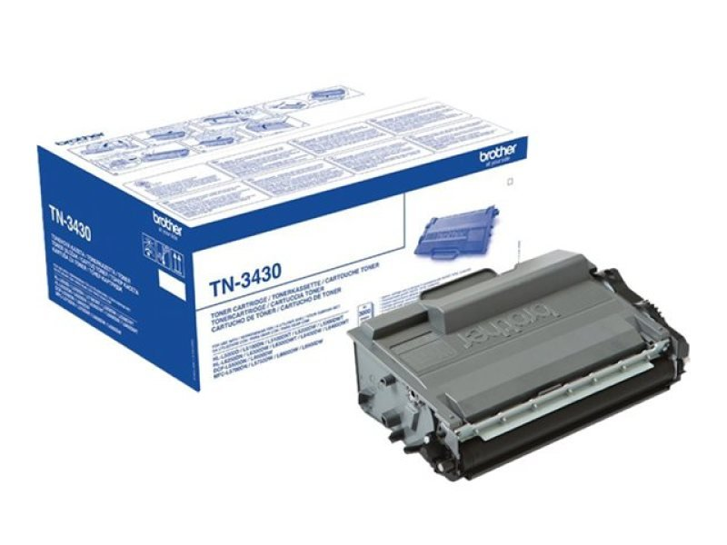 Brother Black Std Yield Toner Tn3430