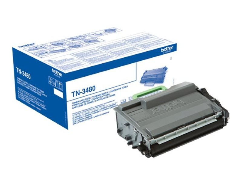 Brother TN-3480 High Yield Black Toner Cartridge - 8,000 Pages