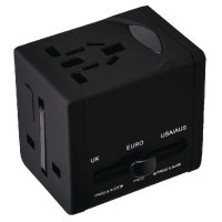 Swordfish VariPlug Universal Travel Adapter Black