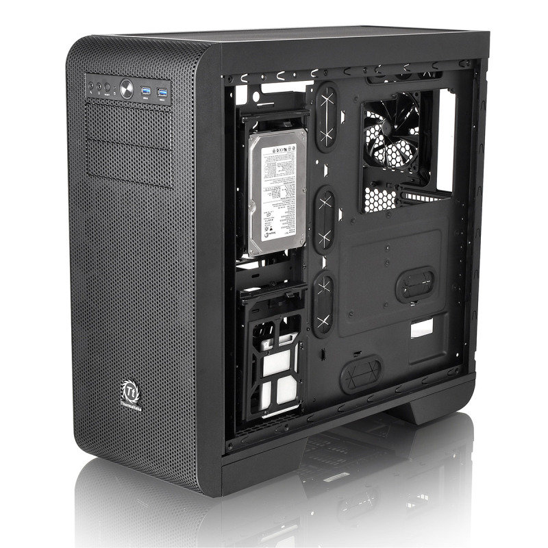 EXDISPLAY Thermaltake Core V51 Midi Tower Gaming Chassis Case With Side Window