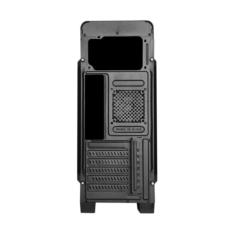 CIT Hero Mid Tower MATX Case with 1 x 12cm Front Red LED Fan & 1 x USB3 with Side Window