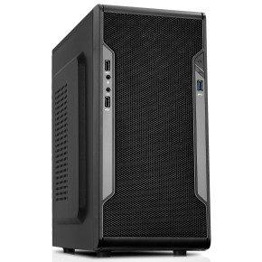 CIT Barricade Micro ATX Mesh Gaming Case Black Interior Mesh Front