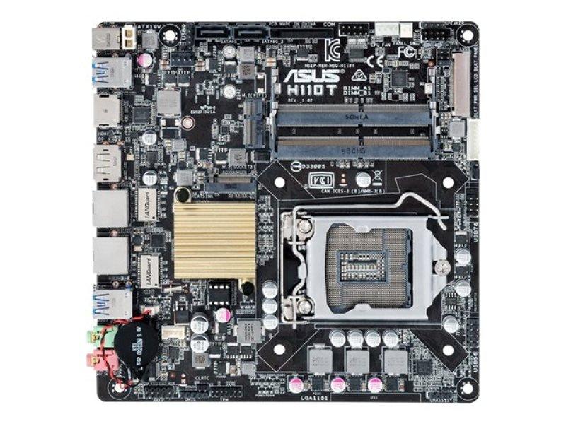 Asus H110T HDMI DisplayPort 7 1-Channel HD Audio Thin Mini ITX Motherboard