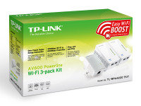 TP-Link TL-WPA4220T KIT V1.20 AV600 Wi-Fi Powerline Network Kit - 3 Pack