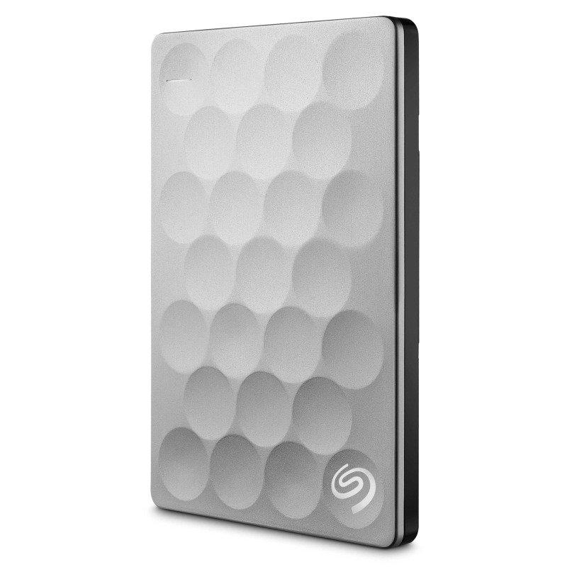Seagate Backup Plus Ultra Slim 1TB USB 3.0 Portable Exernal Hard Drive - Platinum