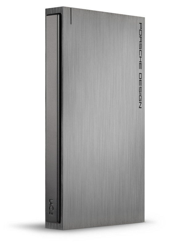 LaCie Porsche Design 1TB USB 3.0 Portable External Hard Drive  Dark Grey
