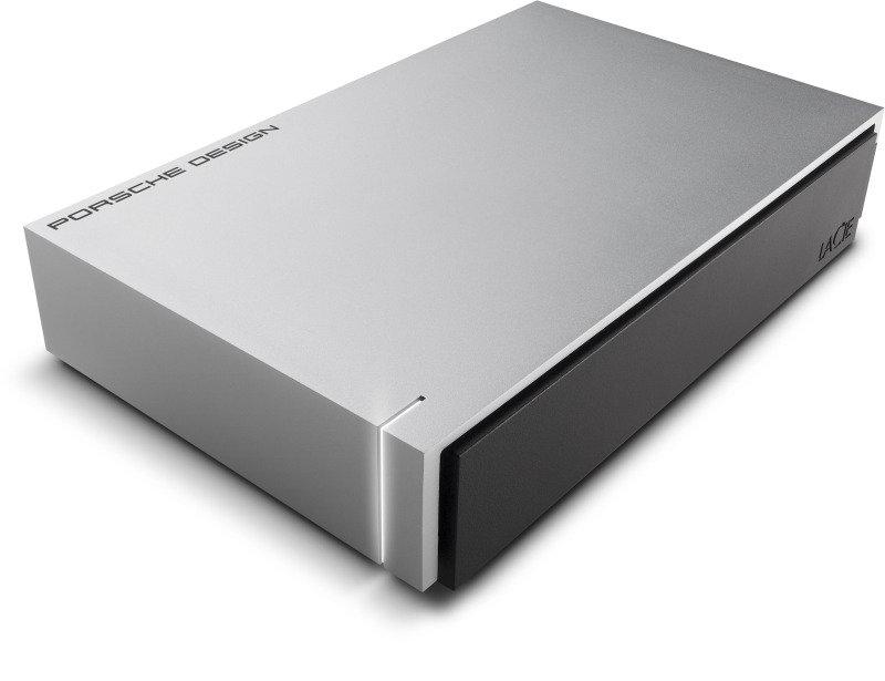 LaCie Porsche Design 8TB USB 3.0 Desktop External Hard Drive - Light Grey