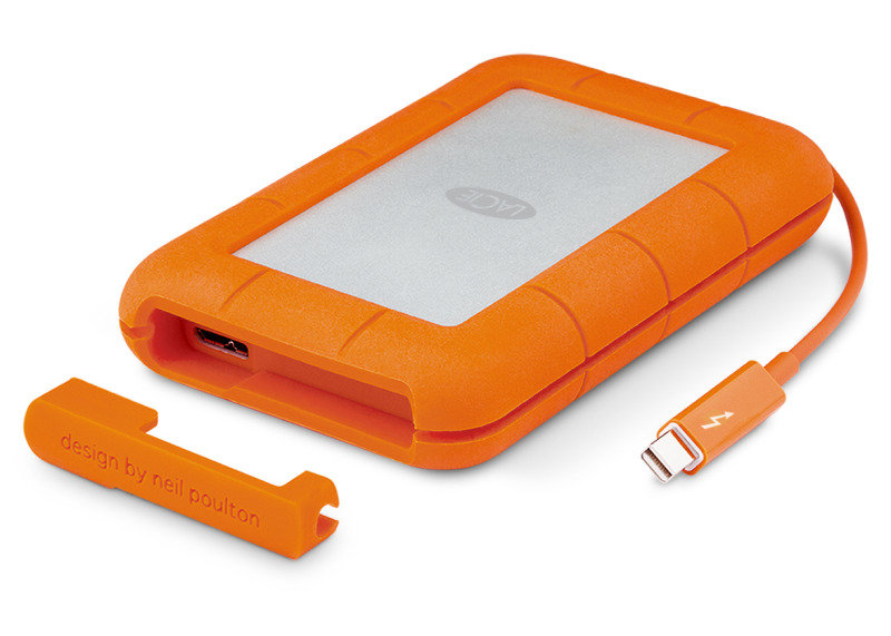 LaCie Rugged 1TB Thunderbolt  USB 3.0 Portable External Hard Drive