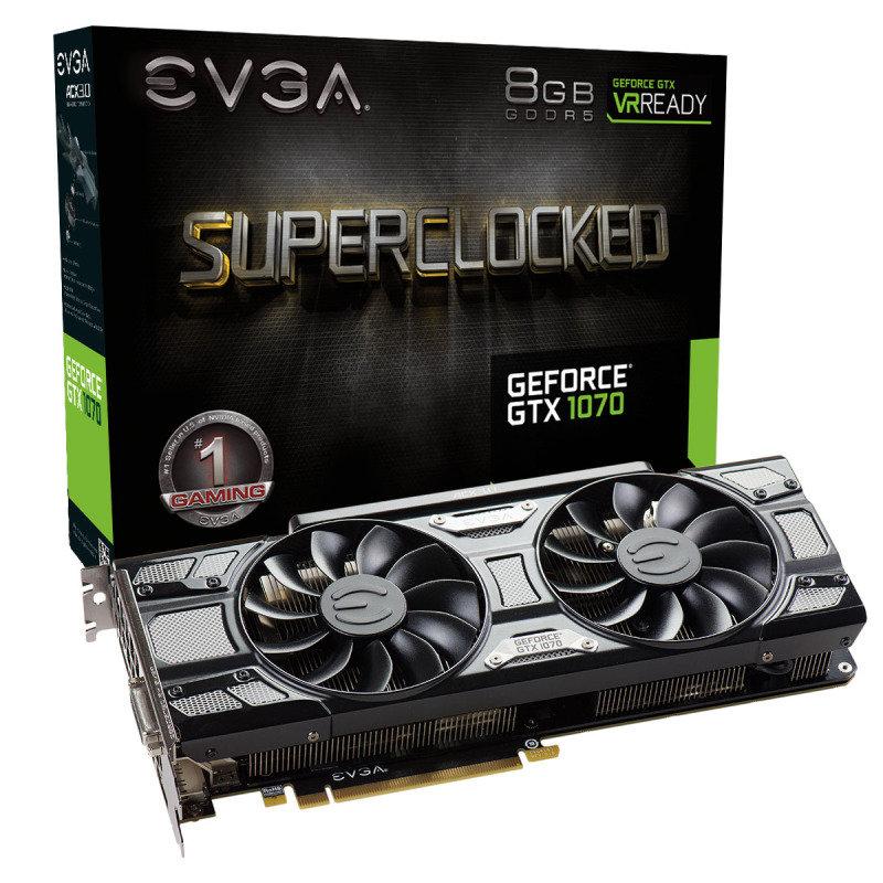 EVGA GTX 1070 SC 8GB ACX 3.0 Black Edition Graphics Card