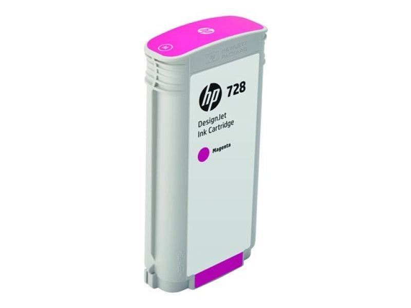 HP 728 Magenta OriginalDesignjet Ink Cartridge - High Yield 130ml - F9J66A