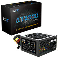 550W ATV PSU 12CM Fan Full Range Input 1x FDD 4x Sata Retail Boxed