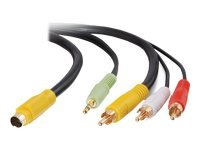 C2G, Value Series S-Video + Audio to (3) RCA-Type Adapter Cable, 2m