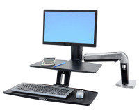 Ergotron WorkFit-A with Suspended Keyboard, Monitor