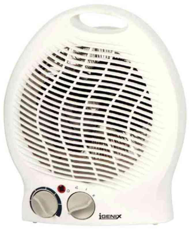 Igenix 2kW Upright Fan Heater White