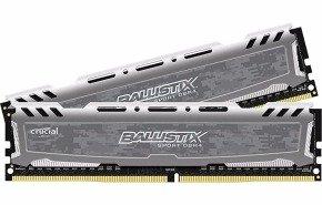 Crucial Ballistix Sport LT Gray 8GB DDR4 2400 MT/s Memory Kit BLS2C4G4D240FSB