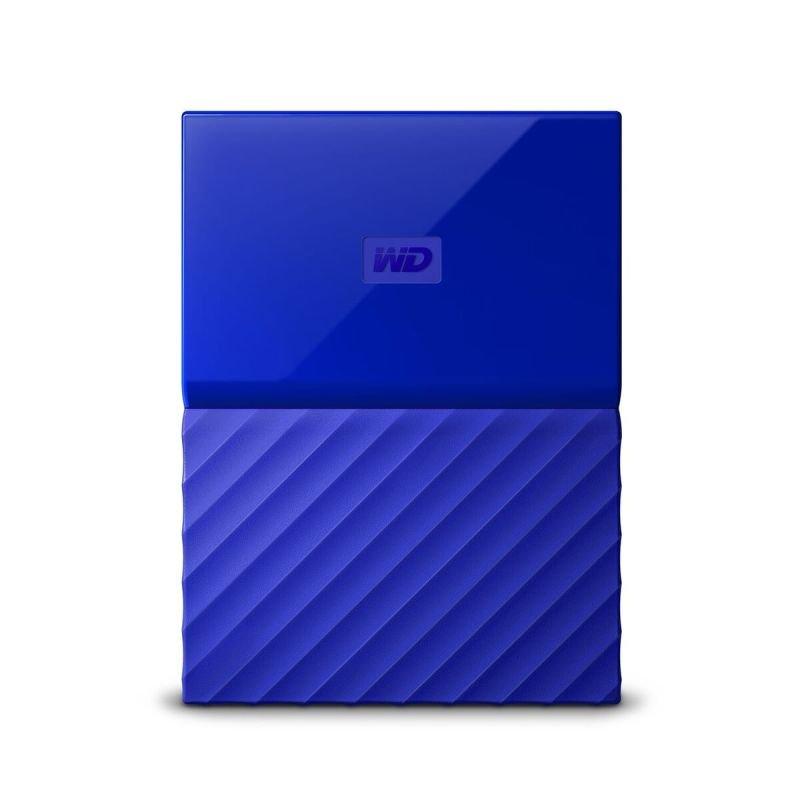 WD My Passport 4TB Portable Hard Drive - Blue