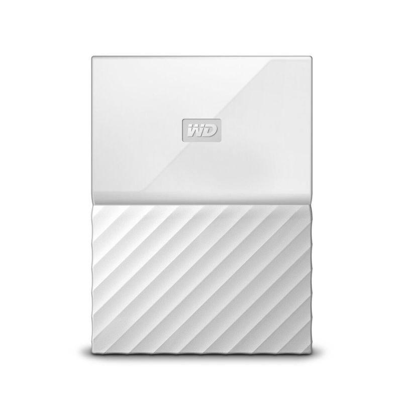 WD My Passport 1TB Portable Hard Drive  White