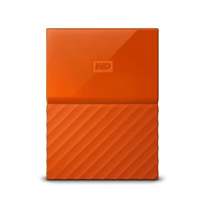 WD My Passport 1TB Portable Hard Drive  Orange