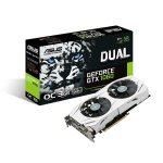 Asus GeForce GTX 1060 Dual 3GB GDDR5 Dual-link DVI-D HDMI 2x DisplayPort PCI-E Graphics Card