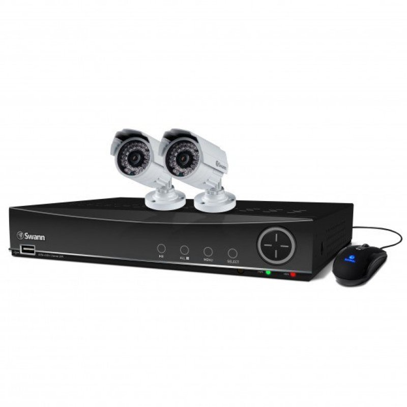 Swann DVR44100 4 Channel 960H Digital Video Recorder & 2 x PRO842 Cameras