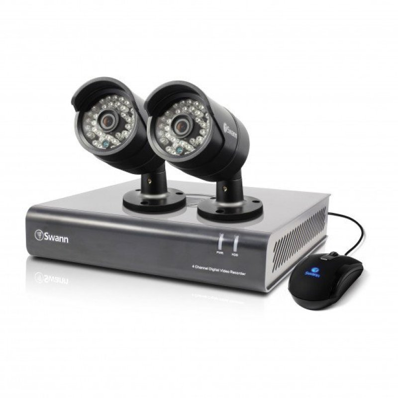 Swann DVR44400 4 Channel 720p Digital Video Recorder & 2 x PROA850 Cameras