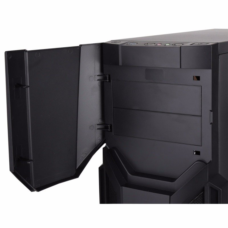 CIT Storm Black Atx Case Blue LED Front Fan + Keyboard & Mouse Set