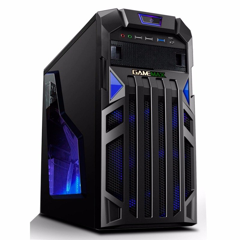 Game Max Centurion Gaming Case with Front & Rear Blue LED Fans