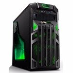 Game Max Centurion Gaming Case with Front & Rear Green LED Fans