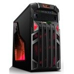 Game Max Centurion Gaming Case with Front & Rear Red LED Fans