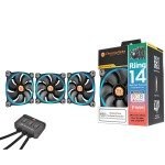 Thermaltake Riing14 Led RGB Fan 256 Colour 140mm with Fan Switch 3 Pack